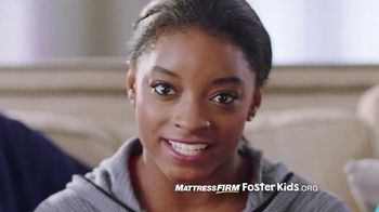 Mattress Firm Foster Kids TV Spot, 'Pajama Drive' Featuring Simone Biles - 70 commercial airings