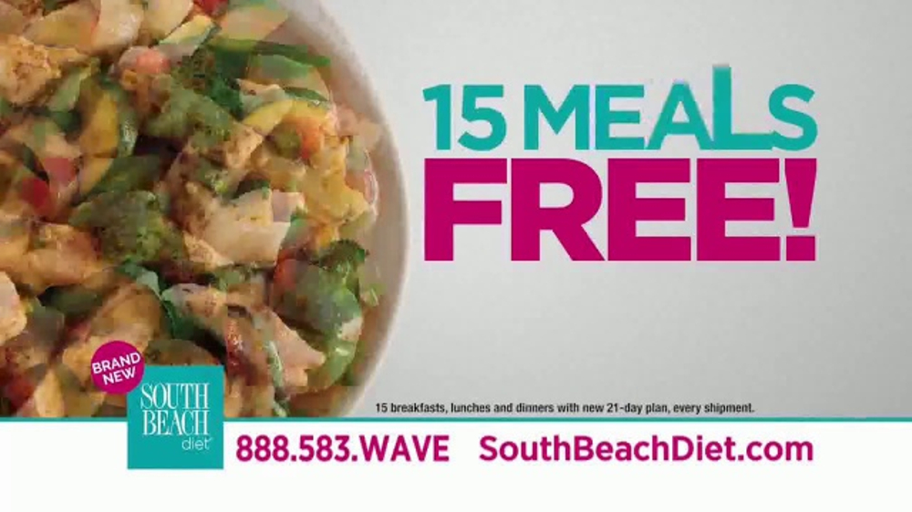 South Beach Diet TV Commercial, '15 Meals Free'