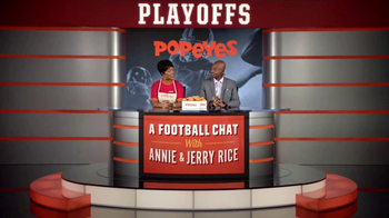 Popeyes Classic Cajun Wings TV Spot, 'Football Chat' Featuring Jerry Rice - Thumbnail 2
