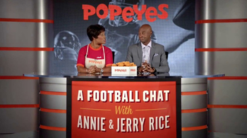 Popeyes Classic Cajun Wings TV Spot, 'Football Chat' Featuring Jerry Rice - Thumbnail 3