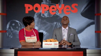Popeyes Classic Cajun Wings TV Spot, 'Football Chat' Featuring Jerry Rice - Thumbnail 8