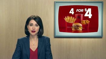 Wendy's 4 for $4 TV Spot, 'UnBEElievable!' - Thumbnail 8