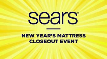 Sears New Year's Mattress Closeout Event TV Spot, 'Top Brands' - Thumbnail 1