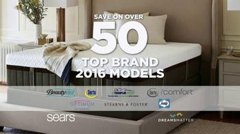 Sears New Year's Mattress Closeout Event TV Spot, 'Top Brands' - Thumbnail 3