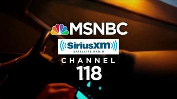 SiriusXM Satellite Radio TV Spot, 'MSBNC' - Thumbnail 3