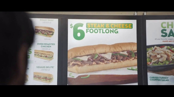 Subway Steak & Cheese Footlong TV Spot, 'Now Just Six Dollars' - Thumbnail 3
