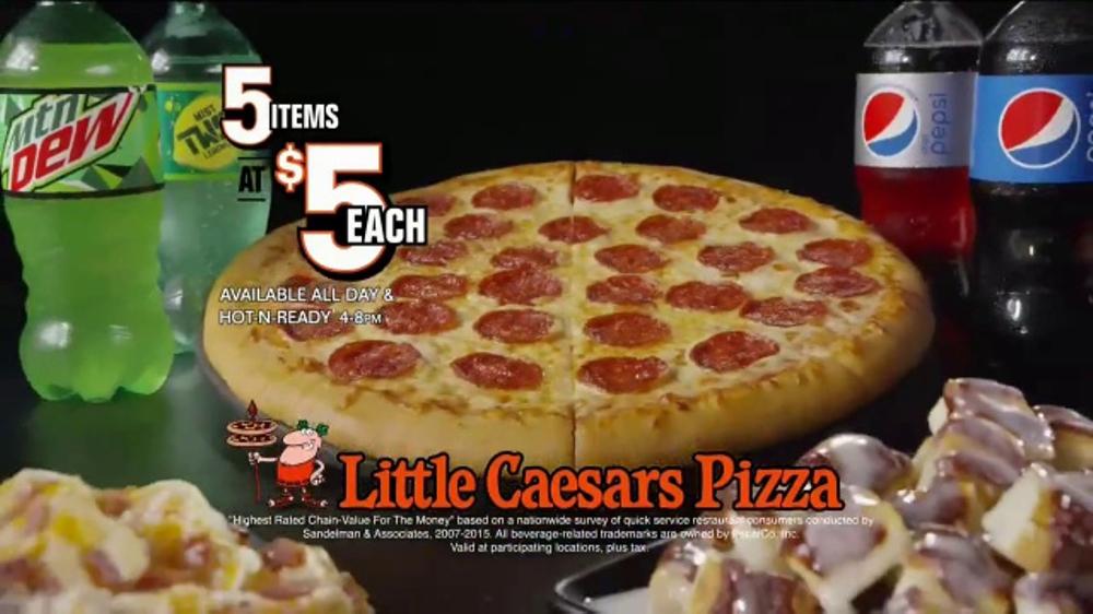 Little Caesars Pizza 5 For 5 Tv Commercial Zoom Ispottv