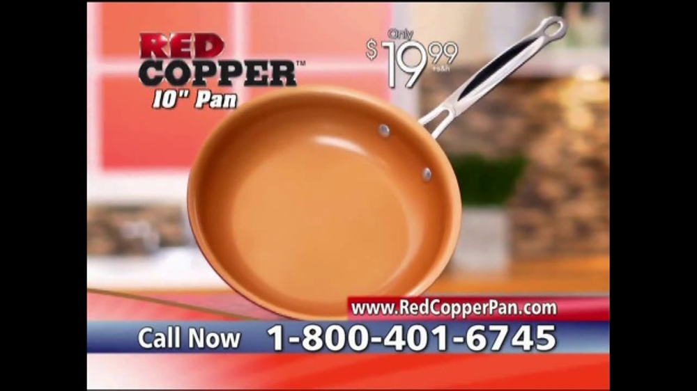 Red Copper Pan Tv Commercial Anti Scratch Technology