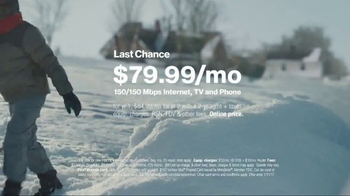 Fios by Verizon TV Spot, 'Sled Jump: January' Song by Steve Miller Band - Thumbnail 6