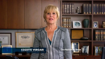 City National Bank TV Spot, 'Cozette Vergari' - Thumbnail 1