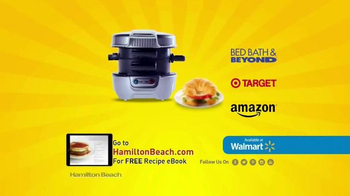 Hamilton Beach Breakfast Sandwich Maker TV Spot, 'Recipe eBook' - 999 commercial airings