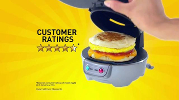 Hamilton Beach Breakfast Sandwich Maker TV Spot, 'Recipe eBook' - Thumbnail 4