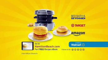Hamilton Beach Breakfast Sandwich Maker TV Spot, 'Recipe eBook' - Thumbnail 6