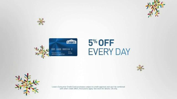 Lowe's Winter Savings Event TV Spot, 'Customer Credit Card' - Thumbnail 6