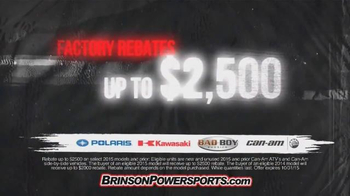 Brinson Powersports TV Spot, 'ATV Superstore' Featuring Ted Nugent - Thumbnail 4