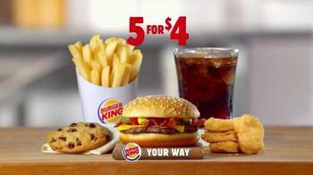 Burger King 5 For $4 Deal TV Spot, 'More for Four' - Thumbnail 5