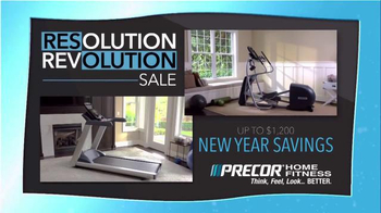 Precor Home Fitness Resolution Revolution Sale TV Spot, 'Health Resolution' - Thumbnail 1