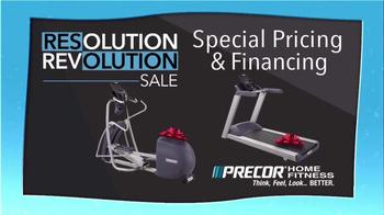 Precor Home Fitness Resolution Revolution Sale TV Spot, 'Health Resolution' - Thumbnail 2