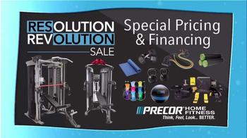 Precor Home Fitness Resolution Revolution Sale TV Spot, 'Health Resolution' - Thumbnail 4