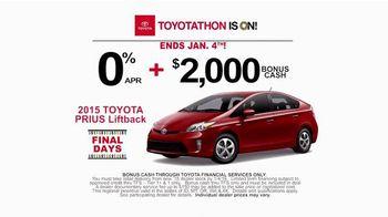 Toyota Toyotathon TV Spot, 'Final Days: 2015 Prius Liftback'