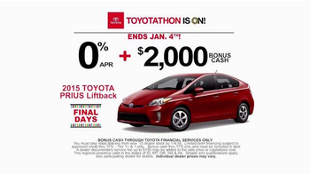 Toyota Toyotathon TV Spot, 'Final Days: 2015 Prius Liftback'