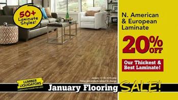 Lumber Liquidators January Flooring Sale TV Spot, 'Laminate and Hardwood' - Thumbnail 3