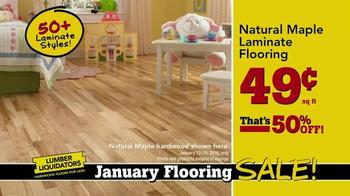 Lumber Liquidators January Flooring Sale TV Spot, 'Laminate and Hardwood' - Thumbnail 4