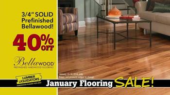 Lumber Liquidators January Flooring Sale TV Spot, 'Laminate and Hardwood' - Thumbnail 5