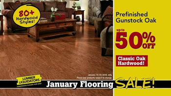 Lumber Liquidators January Flooring Sale TV Spot, 'Laminate and Hardwood' - Thumbnail 6