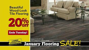 Lumber Liquidators January Flooring Sale TV Spot, 'Laminate and Hardwood' - Thumbnail 7