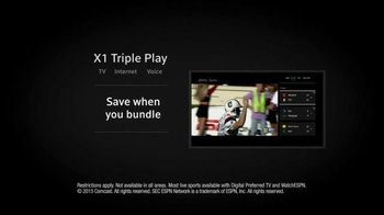 XFINITY X1 Triple Play TV Spot, 'Three Games of Football' - Thumbnail 9