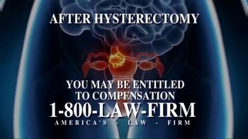 1-800-LAW-FIRM TV Spot, 'Uterine Cancer'