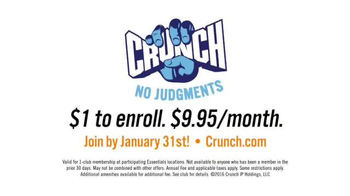 Crunch Gym TV Spot, 'Sounds Like Fun' - Thumbnail 3