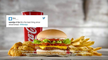 Wendy's 4 for $4 Meal TV Spot, 'Twitter Feed' - Thumbnail 2
