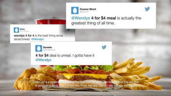 Wendy's 4 for $4 Meal TV Spot, 'Twitter Feed' - Thumbnail 4