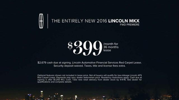 2016 Lincoln MKX TV Spot, 'All Yours' Featuring Matthew McConaughey - Thumbnail 8