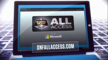 NBC Sports Network TV Spot, 'Sunday Night Football Social Experience'