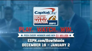Capital One TV Spot, 'Bowl Mania: ESPN - Competition' Feat. Danny Kanell - Thumbnail 10