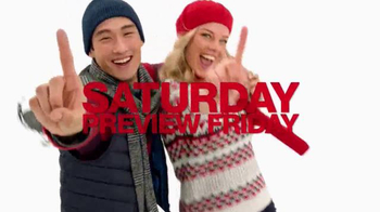 Macy's One Day Sale TV Spot, 'Sweaters, Coats and Earrings' - Thumbnail 1