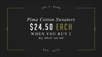 JoS. A. Bank Great Sweater Sale TV Spot, 'Pima Cotton Sweaters' - Thumbnail 4