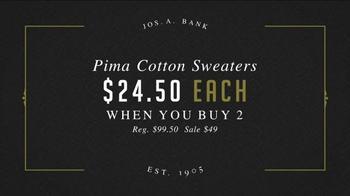 JoS. A. Bank Great Sweater Sale TV Spot, 'Pima Cotton Sweaters' - Thumbnail 5
