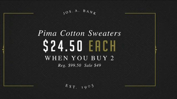 JoS. A. Bank Great Sweater Sale TV Spot, 'Pima Cotton Sweaters' - Thumbnail 6