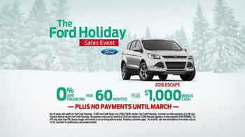 Ford Holiday Sales Event TV Spot, '2016 Escape' - Thumbnail 7