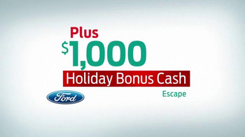 Ford Holiday Sales Event TV Spot, '2016 Escape' - Thumbnail 3