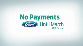 Ford Holiday Sales Event TV Spot, '2016 Escape' - Thumbnail 4