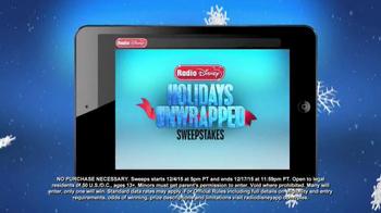 Radio Disney TV Spot, 'Holidays Unwrapped Sweepstakes' Feat. Demi Lovato - Thumbnail 4