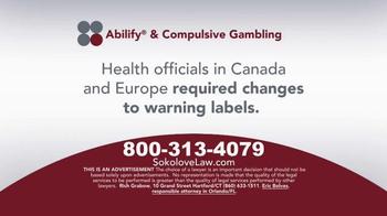 Sokolove Law TV Spot, 'Abilify Gambling Problem' - Thumbnail 2