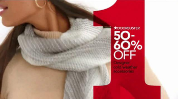 Macy's One Day Sale TV Spot, 'Sweaters, Scarves & Hats' - Thumbnail 4