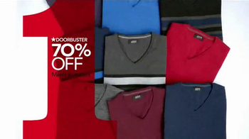 Macy's One Day Sale TV Spot, 'Sweaters, Scarves & Hats' - Thumbnail 5