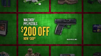 Cabela's Christmas Sale TV Spot, 'Pistols and Ammo' - Thumbnail 4